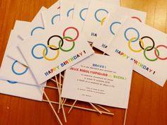 Une invitation d'anniversaire sportive !