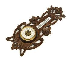 Art Nouveau Barometer. German Barometer. Carved Wood Barometer. Mercury…