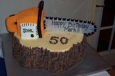 Chainsaw cake