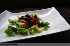 Receta de Ensalada de cogollos de tudela y pimientos asados
