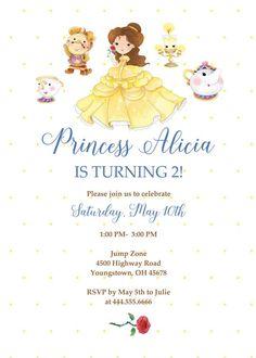 Belleza y las invitaciones de la bestia Beauty and the Beast