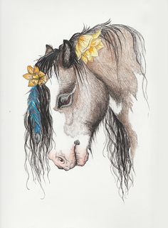About: Beautiful black ink drawing of a Gypsy Vanner gelding. Color added with Prismacolor colored pencils. This was a pet portrait of our horse, Dreamer. Art by Brandie Larson, graphicbrewery.com. Want a custom pet portrait, contact me at my website!
