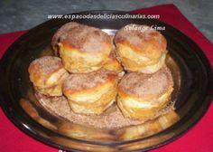 Sonho assado recheado / pão doce / rosca - Espaço das delícias culinárias