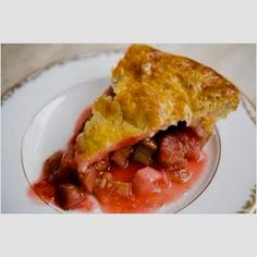 Strawberry Rhubarb pie!! Not healthy but so delicious!!