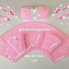 Kasutaja Knitting and Embroidery foto. Knitting For Kids, Crochet For Kids, Knitting Projects, Knit Crochet, Easy Knitting, Baby Pullover, Baby Cardigan, Baby Vest, Sweater Knitting Patterns