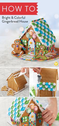 Let the decorating fun begin! Assembled and embossed gingerbread house, three colors of icing, decorating bags and tips, candy galore, gingerbread kid cookies and a colorful presentation board make decorating this gingerbread house kit an exception event. Called deluxe for so many reasons, it's great fun for kids and adults alike. #wiltoncakes #gingerbreadhouse #gingerbreadhousetechniques #gingerbreadhouseparty #gingerbreaddesign #gingerbreadhouses #candy #gingerbreadhouseideas #decorating