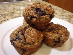 High Protein, High Fiber Blueberry Muffins  Read more: http://www.food.com/recipe/high-protein-high-fiber-blueberry-muffins-337487?oc=linkback