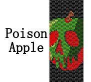 Poison Apple Snow White Inspired Beaded Peyote Cuff Bracelet Pattern!