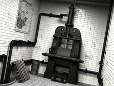 Old Steam press room. 3D scene composition.