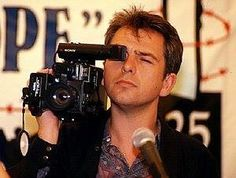 Peter Gabriel and a camera