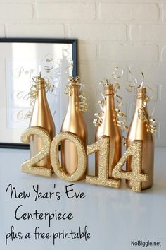 Easy New Year's Eve centerpiece  - NoBiggie.net