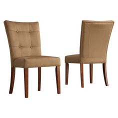 Alexandra Set of 2 Tufted Side Chairs - Peat