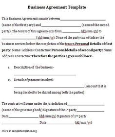 Business Agreement #business