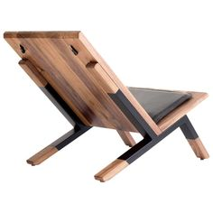 Contemporary Lounge Chair, Walnut, Powder-Coated Steel and Leather Cushion 5 Easy And Cheap Tips: Wood Working Decor Coffee Tables woodworking clamps boxes.Woodworking Tips Knives ultimate woodworking shop. 8 Blessed Cool Tricks: Wood Working Ideas For He