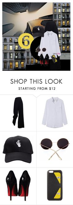 """""""newchic style"""" by dear-inge ❤ liked on Polyvore featuring The Row, Christian Louboutin, Fendi and rockthevote"""