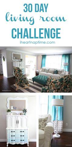 Living room makeover on iheartnaptime.com ...LOVE! #DIY #homedecor