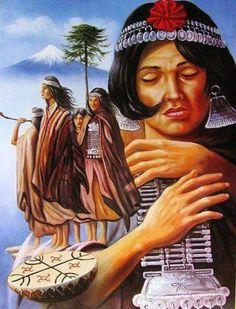 Mapuches / Dibujo.