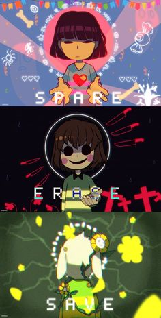 SPARE // ERASE // SAVE by escafandrista Undertale fan art