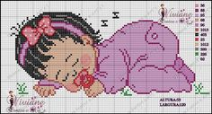 Cross Stitch For Kids, Cross Stitch Boards, Just Cross Stitch, Cross Stitch Baby, Cross Stitching, Cross Stitch Embroidery, Cross Stitch Patterns, African Babies, Sewing Crafts