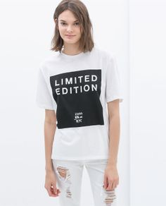 Image 1 of LIMITED EDITION T-SHIRT from Zara