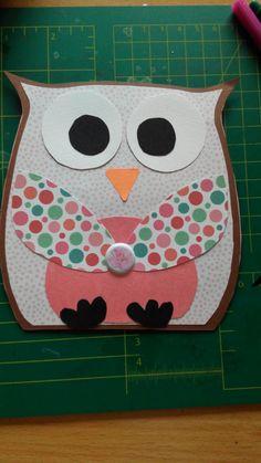 Zelfgemaakte Kaart Dutch doobadoo mal card art owl uil