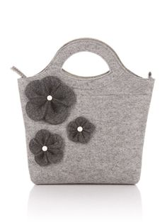 Light grey melange Felt Bag Bianca. Original by FELTTERRA on Etsy, $100.00