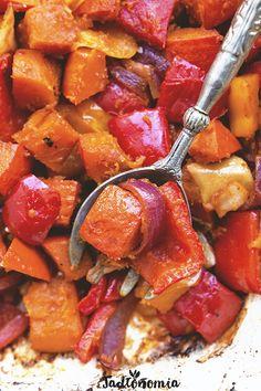 Dynia z jabłkami i papryką