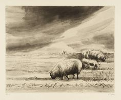 Henry Moore Sheep in Landscape