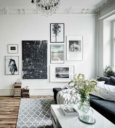 Apartment with romantic touches and gorgeous picture wall