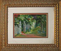 Lara-Original Oil Painting-Garden Gate