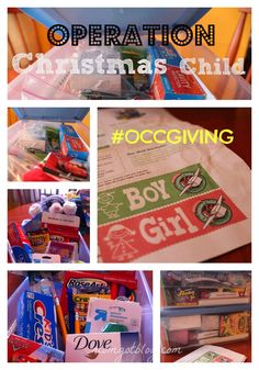 #OCCGiving Operation Christmas Child is happening! :)