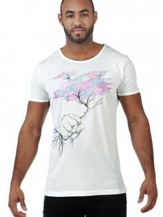 Tshirt White with cool drawing freevolution