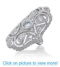 Valentines Day Gifts Bling Jewelry Art Deco Style CZ Full Finger Armor Ring #Valentines #Day #Gifts #Bling #Jewelry #Art #Deco #Style #CZ #Full #Finger #Armor #Ring