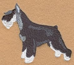 Mini Schnauzer - 4x4 | Tags | Machine Embroidery Designs | SWAKembroidery.com Starbird Stock Designs