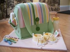 """Diaper Bag""Baby Shower Cake > Stylish Eve"