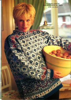 Thanks labetska_olga for this Pullover pattern by Dale Design.SUMMARY: This woman's, stand-up collar pullover features several pattern motifs. The lower body employs a repeating square motif somewhat like greek keys opened out and i# Dale Knitting Stiches, Knitting Patterns, Etnic Pattern, Norwegian Knitting, Knitwear Fashion, Fair Isle Knitting, Classic Outfits, Clothing Patterns, Ravelry