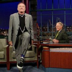 Robin Williams on The Late Show with David Letterman
