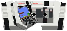 Thème graphique Nintendo NES pour le kit borne d'arcade bartop 2 joueurs arcademy. plus d'infos : http://www.arcademy.fr