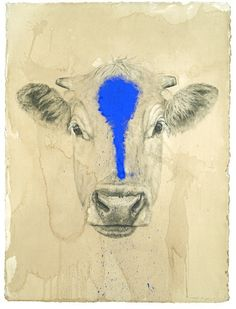 Blue Cow by RMKD on Etsy,