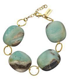 K. Amato Green Amazonite Link Bracelet