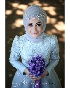 Image may contain: 1 person Hijabi Wedding, Muslimah Wedding Dress, Hijab Style Dress, Disney Wedding Dresses, Muslim Brides, Pakistani Wedding Dresses, Tea Length Bridesmaid Dresses, Bridal Hijab, Mode Hijab