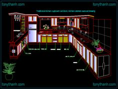 Traditional kitchen cupboard cad block, kitchen cabinets autocad drawing