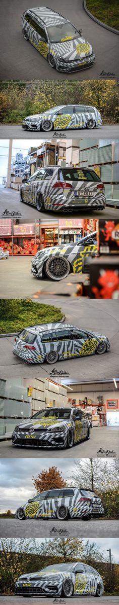 Dazzle VW Golf R wagon HOW DEEP?