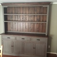 Hutch and Buffet Sideboard Farmhouse Reclaimed Wood China Buffet Hutch, Kitchen Hutch, Dining Room Hutch, Built In Buffet, Dining Buffet, Furniture Care, Solid Wood Furniture, Furniture Makeover, Painted Furniture