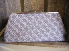 Clutch Purse metal frame silver frame by DesignsMadeByJane on Etsy, $40.00