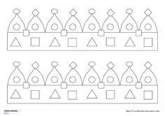 17 modèles de couronnes de rois à colorier et à fabriquer pour les élèves de maternelle (TPS - PS - MS - GS). Elle pourront également permettre de travailler les formes (carré, rectangle, rond, triangle...) ainsi que les algorithmes.