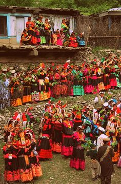 Kalash people celebrating the Joshi festival.