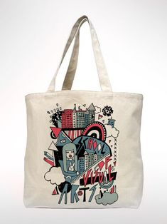 Moon Screen Printed Funny Tote Bag Its Just A Phase Canvas Tote Bag