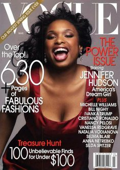 Vogue US March 2007 - Jennifer Hudson-1st time in years since they used a black woman on the cover