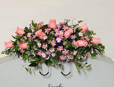 Funeral Flower Arrangements, Funeral Flowers, Floral Arrangements, Cemetery Vases, Cemetery Flowers, Cemetary Decorations, Spring Wildflowers, Memorial Flowers, Easter Flowers